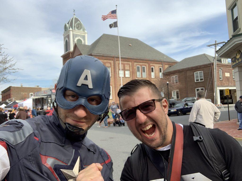 Captain America and Giorigo Giove